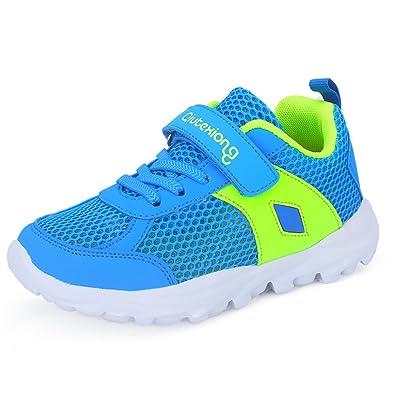 Kinder Sneaker Atmungsaktive Schuhe aus Mesh Sommer Outdoor Sportschuhe mit Klettverschluss für Jungen Mädchen Gr.28 38