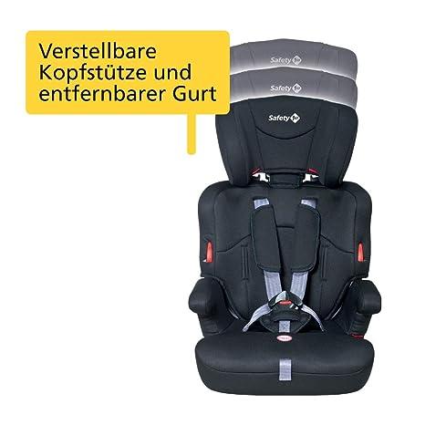 full black bis 12 J. Safety 1st Ever Safe Auto-Kindersitz 9-36 kg schwarz mitwachsender Gruppe 1//2//3 ab ca 12 M