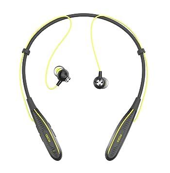 QCY qy25pro - In-Ear Deporte Auriculares Bluetooth con Gancho de Oreja, Inalámbrico/inalámbrico, excelente Sonido y Graves, para niños y Adultos (Negro) ...