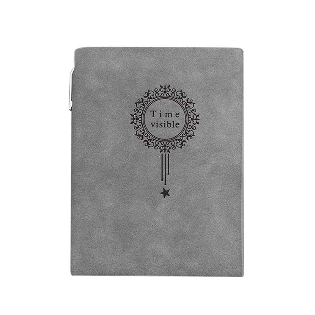 ZLJHH Cuaderno De Cuero A5 Cuaderno De Cuaderno De Tapa Dura ...