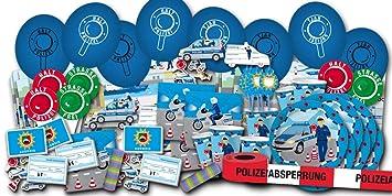 Kindergeburtstag Polizei Partyset XXL - Partydeko & Partygeschirr im Sparset