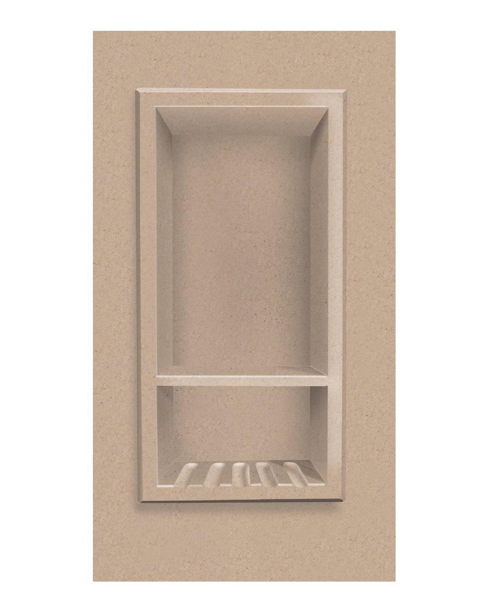 Transolid ACCESS0002-A4 Decor 7-1/2 x 15-Inch Recessed Shampoo Caddy, Sand Castle by Transolid