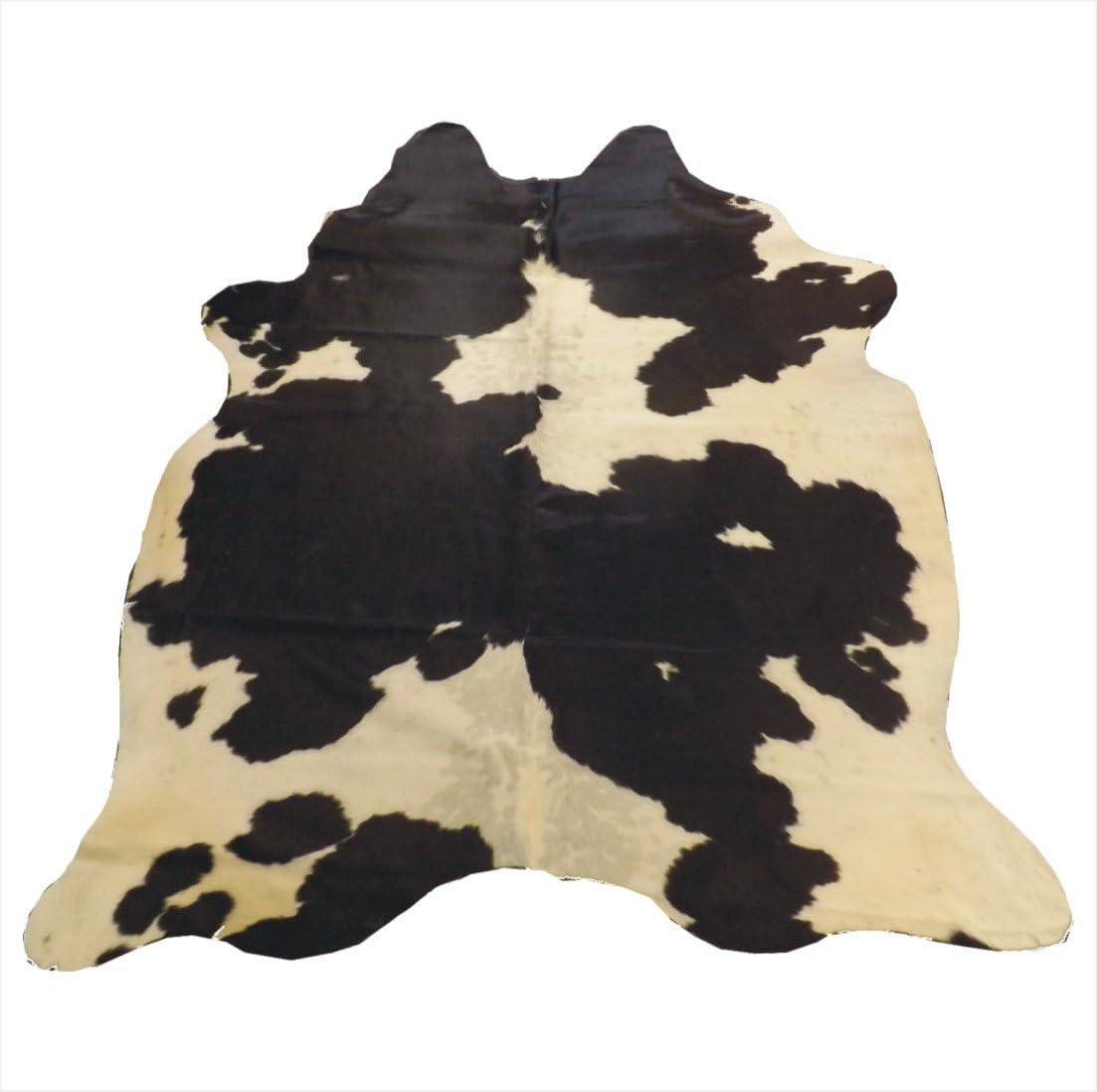 Hilason Hair-On Leather Pure Brazillian Cowhide Skin Rug Carpet Black And White