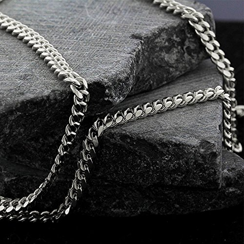 14k White Gold 3.5mm Solid Miami Cuban Curb Link Necklace Chain 16'' - 30'' (24) by In Style Designz (Image #4)