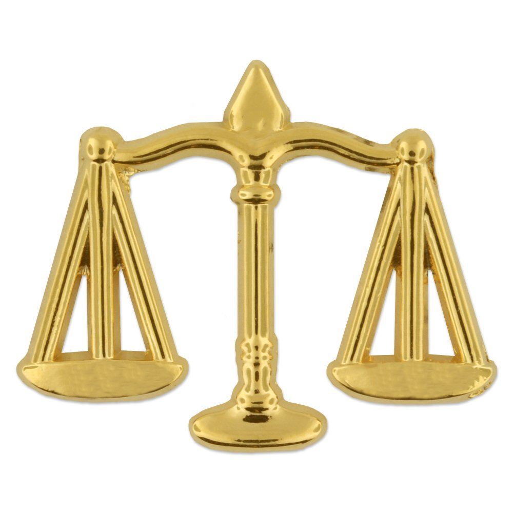 PinMart Scales of Justice Lawyer Gift Gold Lapel Pin by PinMart (Image #1)