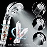 [New Version] AUSTOR Ionic Filter Handheld Shower Head, 4 Mode Functions Hand Shower with Extra 2 Pack 360° Rotating Filters