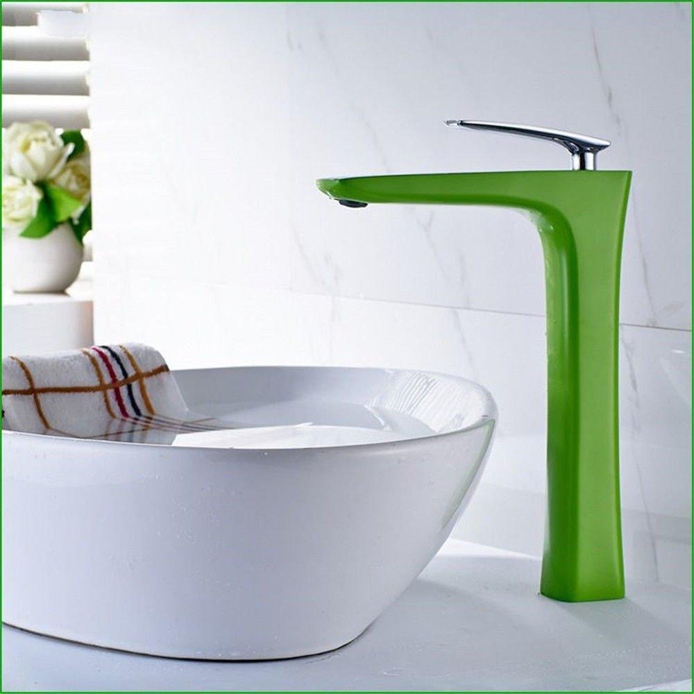 Hlluya Wasserhahn für Waschbecken Küche Alle Kupfer halb lackiert halbe Badezimmer Heißes und Kaltes Wasser Waschtisch Armatur Waschtisch Armatur C