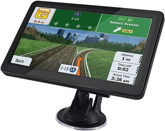 5 Pouce GPS Navigateur Automatique 8GB 128MB avec HD /Écran Tactile Multi-Languages Guidage Vocale Cartographie Europe Mise /à Jour Gratuite /à Vie pour Voiture Poids Lourd Camion GPS Auto Voiture