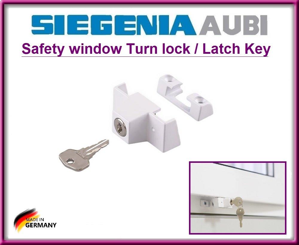 Con 4 viti di montaggio !!! SIEGENIA 880906 sicurezza finestra attivare il blocco // chiave fermo !! Top serratura di sicurezza di qualit/à per proteggere i bambini ad aprire la finestra !!!