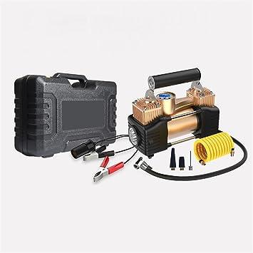 Qazwsx La Carga Rápida del Inflador del Neumático De Digitaces DC12V Llevó Los Compresores De Aire Portátiles del Cilindro Doble Automático: Amazon.es: ...
