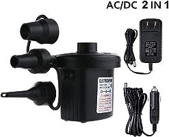 Jasonwell Bomba de Aire Eléctrica 2 en 1 Air Pump Adaptador de corriente para automóvil y hogar Bomba para Inflar con...
