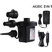 Jasonwell Bomba de Aire Eléctrica 2 en 1 Air Pump Adaptador de corriente para automóvil y hogar Bomba para Inflar con conector de energía alterna 110~240V para Sofá Inflable, Colchón y Juguetes (2 en 1)