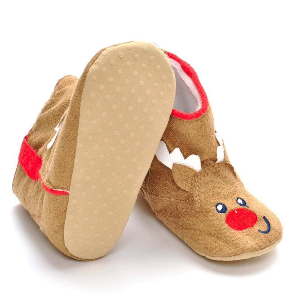 FORESTIME Newborn Infant Baby Boy Girl Christmas Boot Shoes Soft Sole Anti-slip Boot