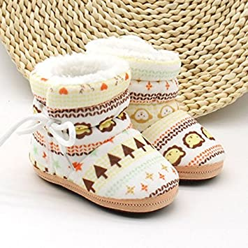 2dd57b4273803 Amazon.com : Baby Shoes Toddler Shoes Girl Boy Winter Baby Boots Warm  Fleece Children Kids Snowboots : Baby