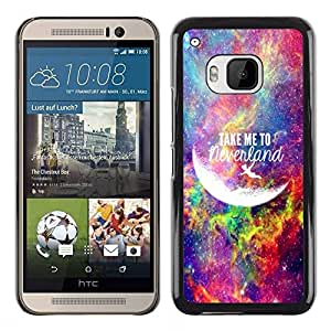 Design for Girls Plastic Cover Case FOR HTC One M9 Take Me To Moon Universe Neverland OBBA