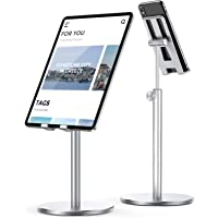 Lisen Upgraded Stable iPad Stand Holder (Silver)