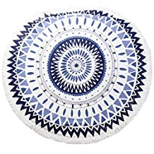 ANswet Acrylic Fibers Knitting Beach Throw Towel Roundie Yoga Mat Table Cloth Wall Tapestry for Festival Celebration