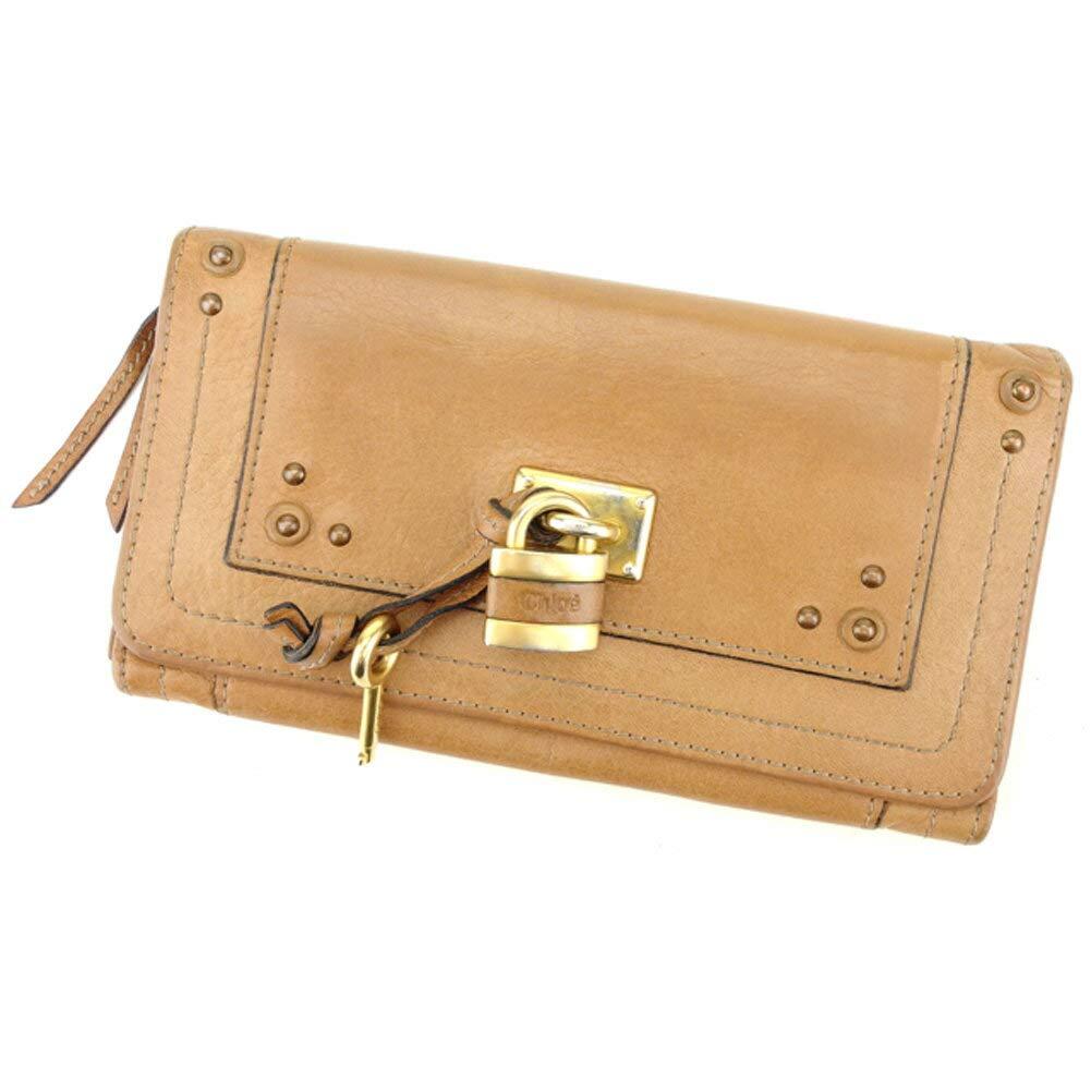 (クロエ) Chloé 長財布 ファスナー付き 財布 ベージュ ゴールド パディントン レディース メンズ 中古 D1895   B07HMM2PTX