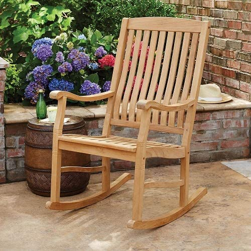 Indonesian Teak Outdoor Porch Garden Rocking Rocker Chair