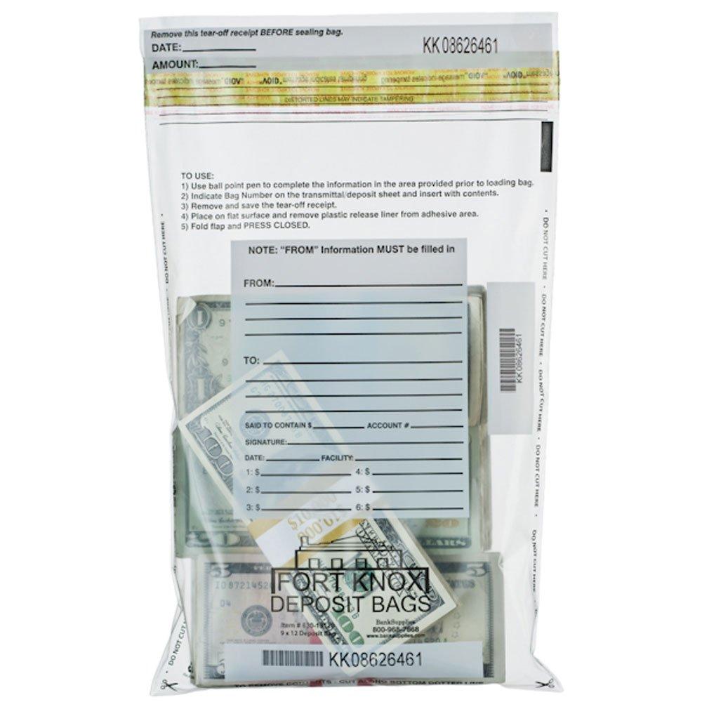 Clear Deposit Bags - 9 x 12 - Box of 100 Bags