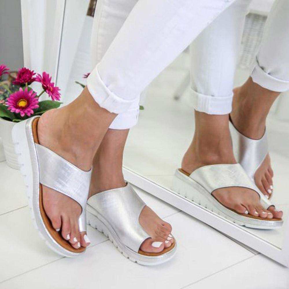 Volwco Sandales Femme Plates,2019 New Women Sandal Shoes Comfy Platform Sandal Shoes Summer Beach Travel Shoes Semi Trailer Sandals Chaussures Sandale