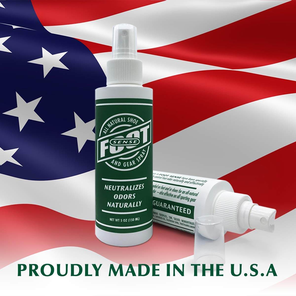Natural Shoe Deodorizer & Gear Spray - Foot Odor Eliminator - Eliminates Smells Naturally. Use on Stinky Shoes, Gear, Smelly feet and Household Odors. Made in USA