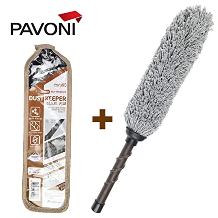 img buy PAVONI Car Duster, Antibacteria Circle Dust Keeper - Quick & Easy Removes Cars Dust,Duster Includes Storage Cover