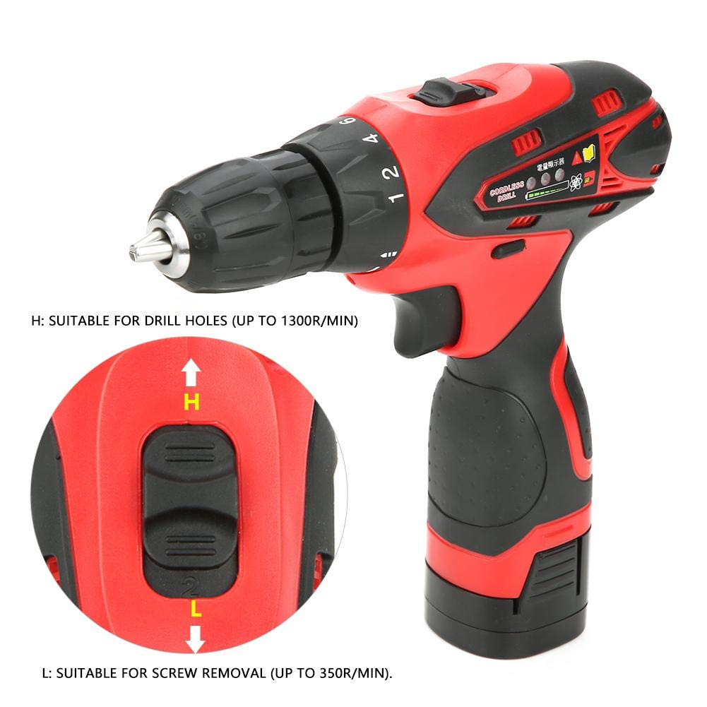 UK plug 16.8V//1.5Ah Electric Drill,16.8V Rechargeable Battery Hand Cordless Electric Drill Electric Screwdriver