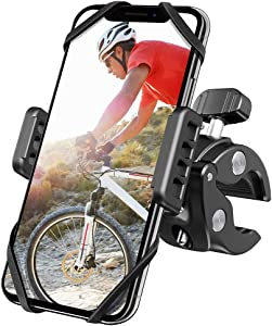 New 2020 Bicycle & Motorcycle Phone Mount,360 Rotation Universal Cell Phone Holder,The Most Secure & Reliable Bike Phone Holder for iPhone SE2/11 Pro/11/Max/XS/XR/X/8, Samsung Galaxy