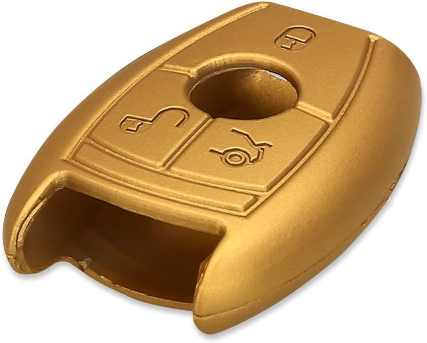Carcasa Protectora Suave de Silicona Case de Mando de Auto con dise/ño de Rally kwmobile Funda para Llave de 3 Botones para Coche