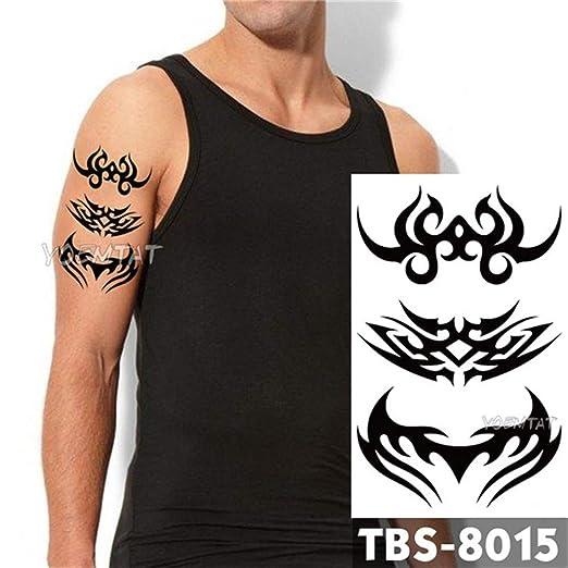 tzxdbh 3 Unids Impermeable Tatuaje Temporal para Hombres Fuego ...