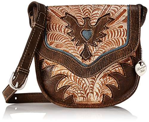 American West Eagle Heart Flap Pouch - Distressed Charcoa...