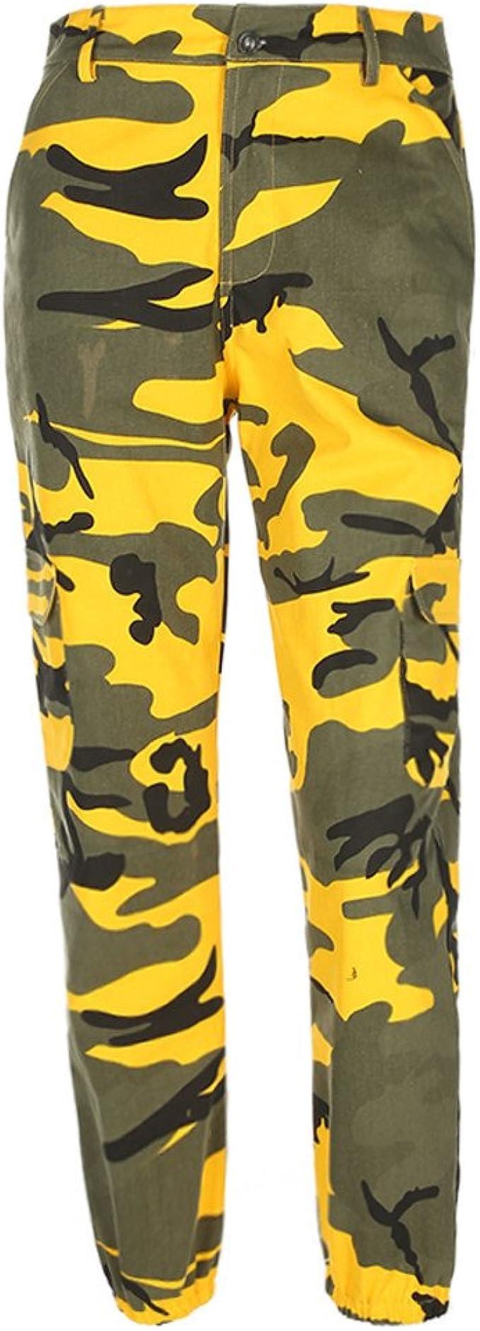 STRIR Pantalones de Mujer Camo Cargo Pantalones de Camuflaje ...