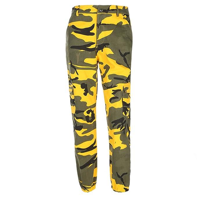 STRIR Pantalones de Mujer Camo Cargo Pantalones de Camuflaje Casual al Aire Libre Jeans