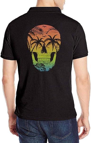 KH5GJ-25 Mens Maui Hawaiian Short-Sleeve Polo Tee Shirt