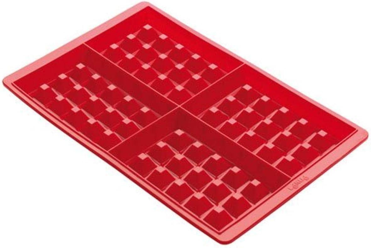 Lékué 0215000R01M017 Molde Silicona, Rojo