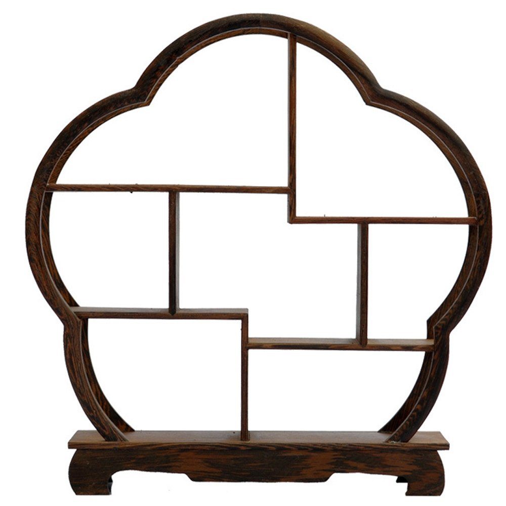 NWFashion Chinese Wooden Assemble Display Stand Home Decoration Curio Cabinets Shelf (3)