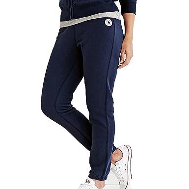 Converse Womens Slim Jogging Bottoms Navy Blue  Amazon.co.uk  Clothing dfbbb246db