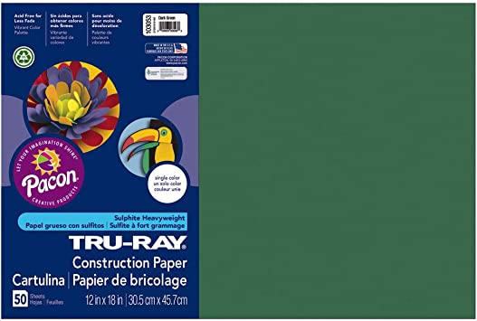 9-Inches by 12-Inches Pacon Tru-Ray Construction Paper Royal Blue 50-Count
