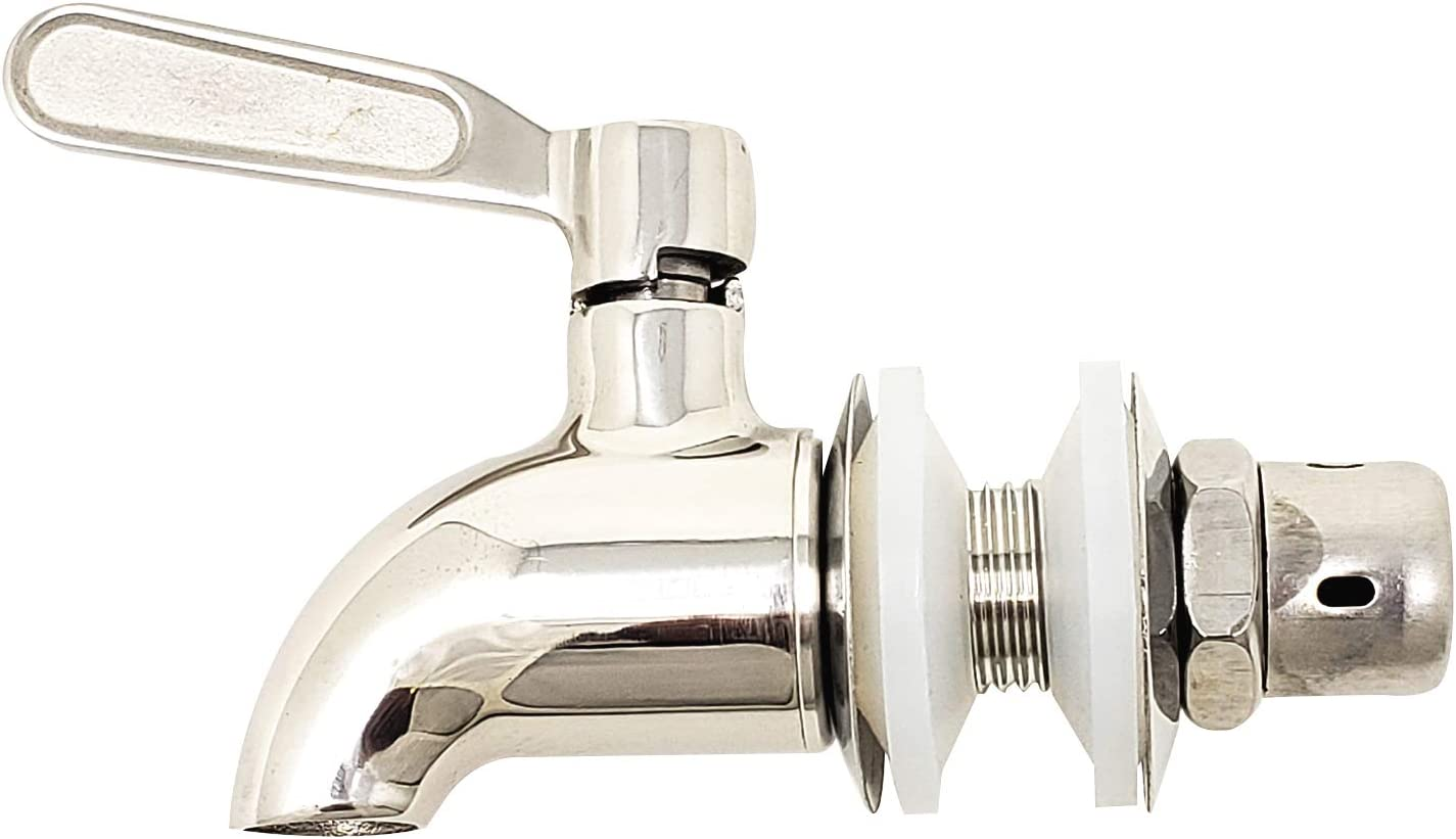Beverage Dispenser Replacement Spigot - Stainless Steel Polished Finished - Faucet