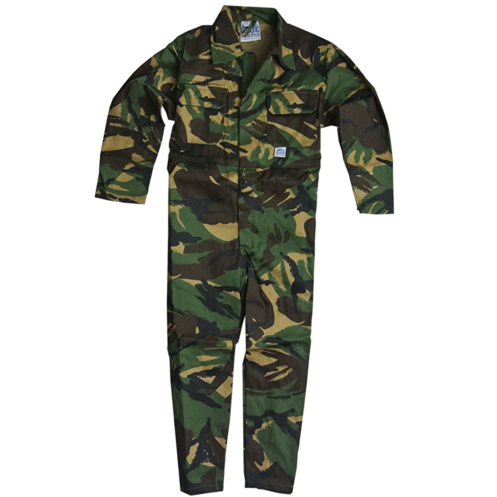 Children's, Kids, Boilersuit, Coverall, Overall, Boys, Girls (Size 28 Age 7-8 years, Woodland)