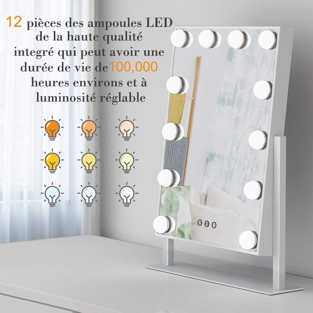 Ovonni Schminkspiegel mit 9 Beleuchtung LED Licht Spiegel