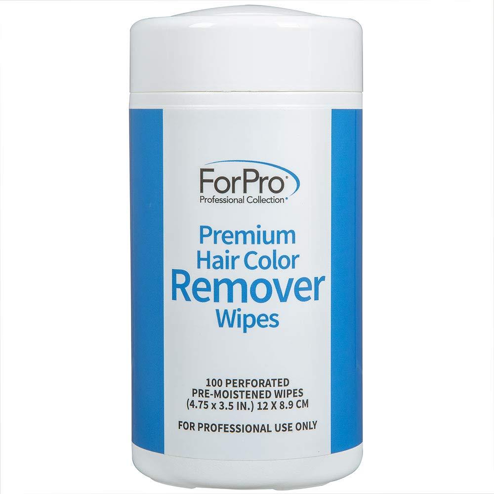 ForPro Premium Hair Color Remover Wipes, Pre-Moistened, Non-Irritating, Non-Abrasive, 100-Count