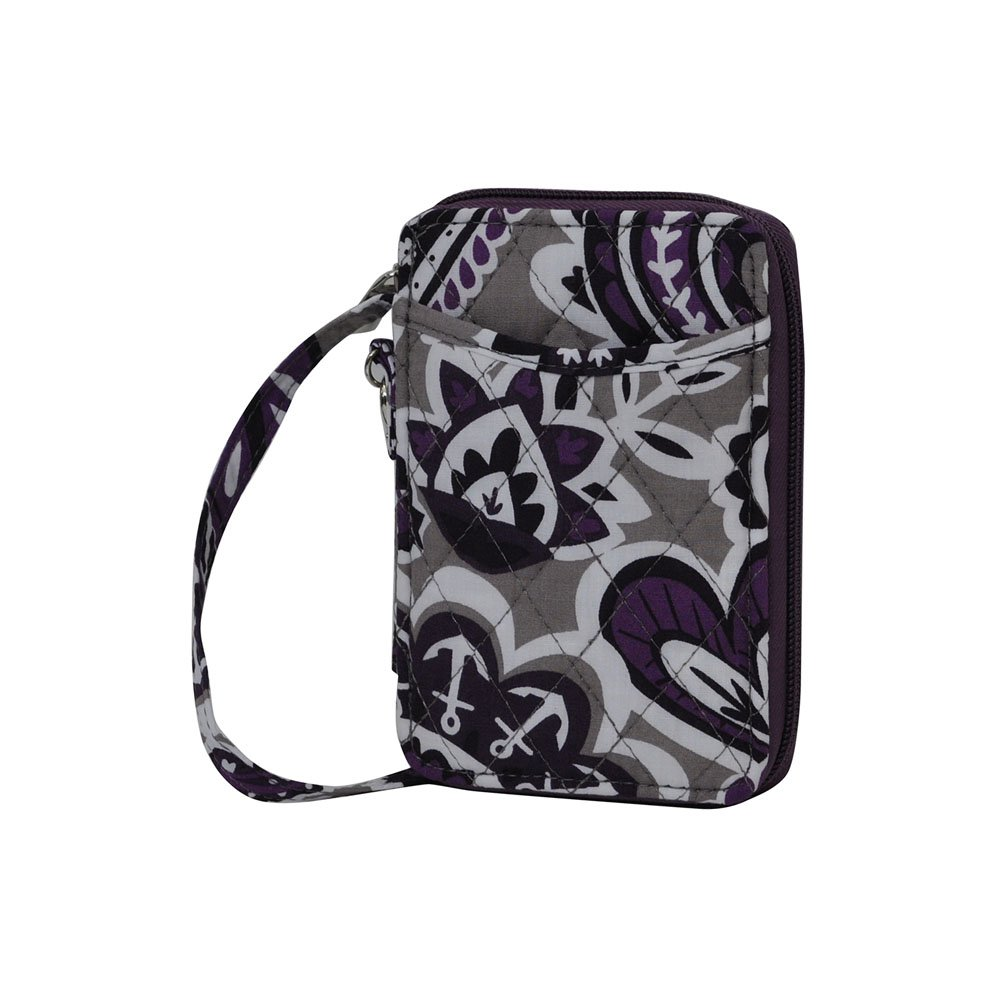 Purple Paisley NGIL Quilted Wristlet Wallet