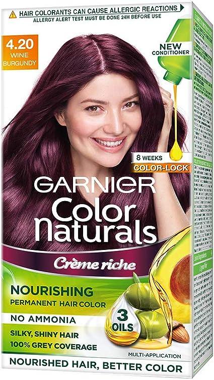 Garnier Color Naturals, Shade 4.20 - Vino borgoña 125 g ...