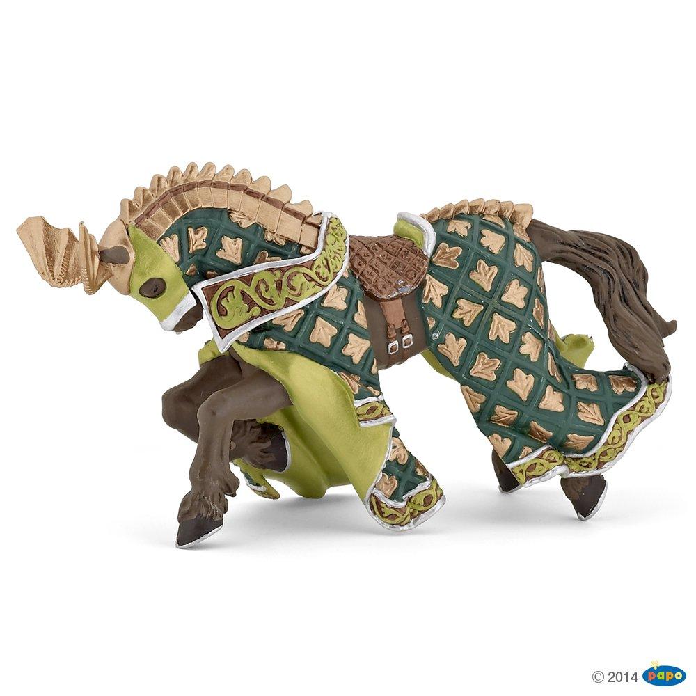Papo Weapon Master Dragon Horse Toy, Green/Gold