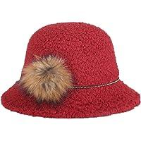 Leisial™ Caliente Sombrero de Mujer Sombrero de Aire Libre Redondo Sombrero de Viaje Invierno Primavera