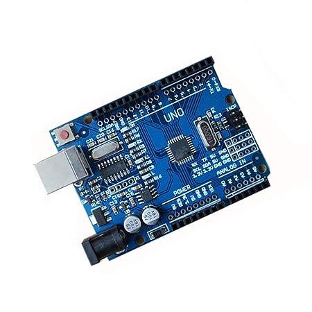 lzndeal tarjeta de desarrollo ATmega328P uno compatible r3 (uno r3) + Cable USB para Arduino