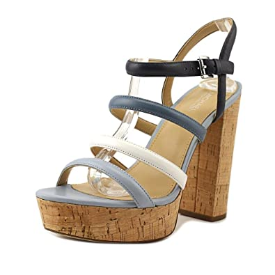 Michael Kors Nantucket Platform Sandals Women's Heels Admirl / Denim Size 10 M