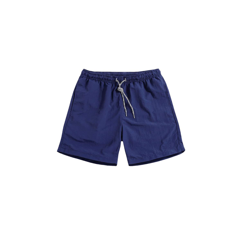Mens Knee Length Quick Drying Jogger Board Shorts Breathable Elastic Waist Beach Shorts